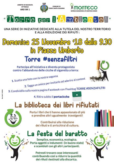 """SERR 2018. AMMINISTRAZIONE COMUNALE e ATI MONTECO-COGEIR presentano """"Torre per l'Ambiente!"""""""